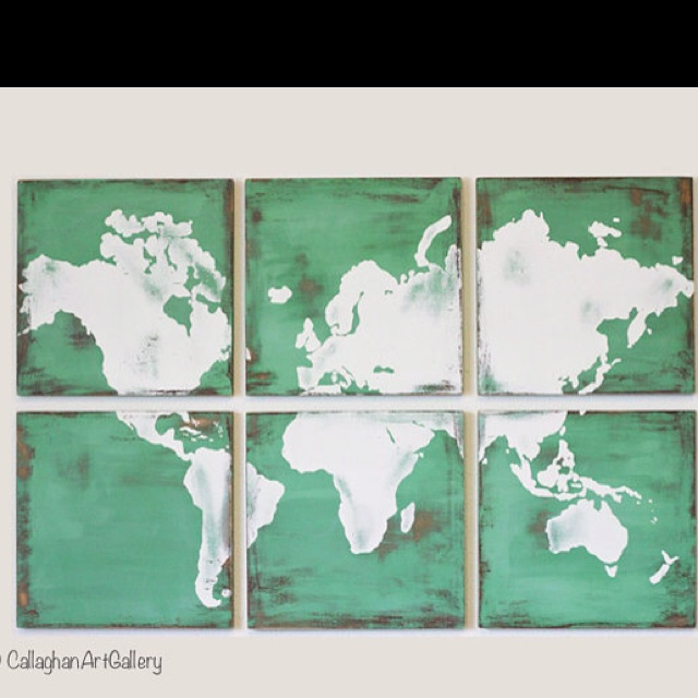 map squares: Wall Art, Canvas Ideas, Blank Wall, Maps Squares, Art Ideas, The Offices, Maps Collection, Living Rooms Ideas, Vintage World Maps