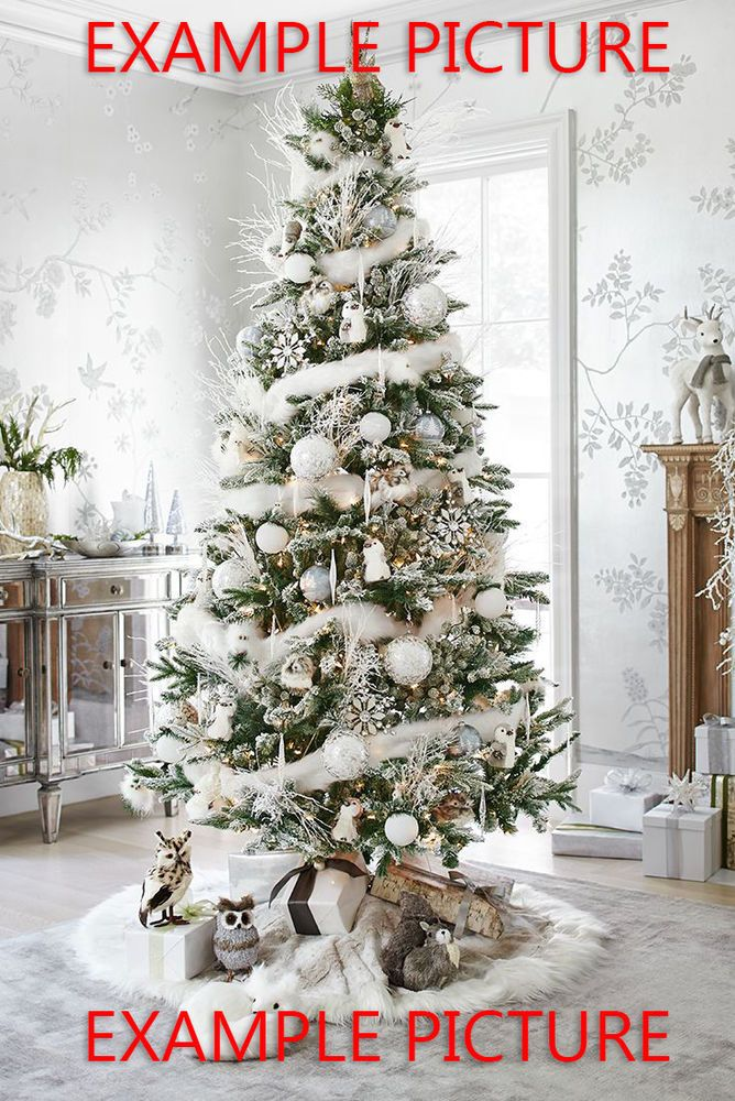 General Information The Perfect Marabou Boa Looks Beautifully Elegant This Boa Looks Great Ar White Christmas Decor Christmas Tree Themes Beautiful Christmas