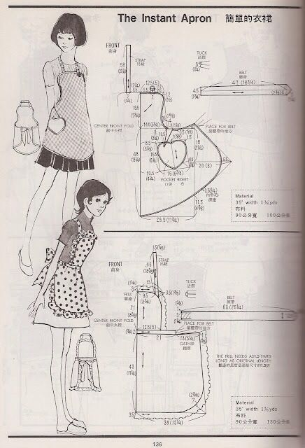 Sewing apron pattern