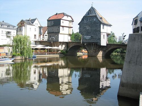 The Bridge Houses-Bad Kreuznach Germany-Beautiful town I lived in for a while.