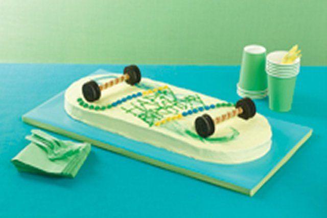 Gâteau planche à roulettes