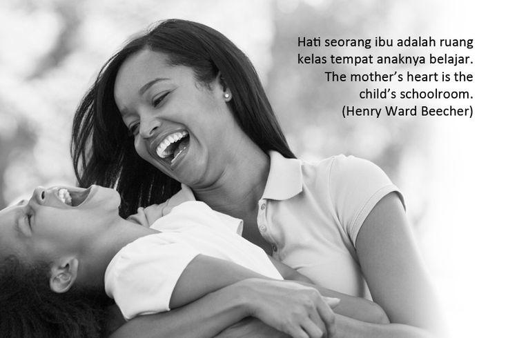 Hati seorang ibu adalah ruang kelas tempat anaknya belajar.. The mother's heart is the child's schoolroom. (Henry Ward Beecher)  Gambar: Kolcraft.com Klik > http://bit.ly/1sF3KVA