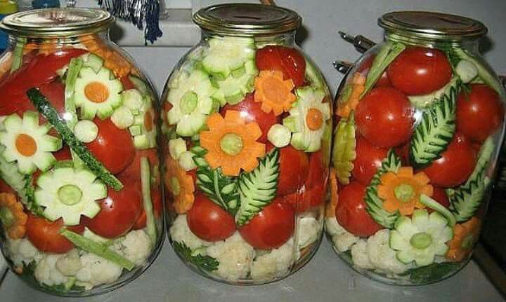 Ornamental Russian Pickled Vegetables
