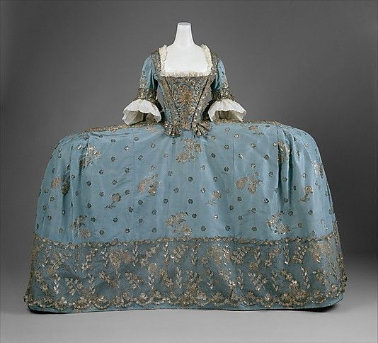 Court Dress ca. 1750Costumes, Fashion, Formal Dresses, 1750, Eighteenth Century, 18Th Century, Art History, Court Dresses, Metropolitan Museums