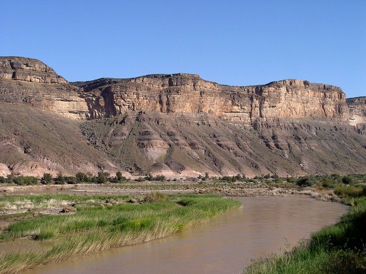 Orange river and mountains, South Africa