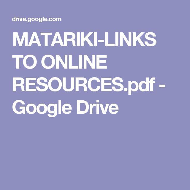 MATARIKI-LINKS TO ONLINE RESOURCES.pdf - Google Drive