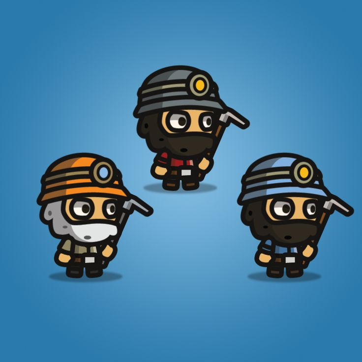 Gold Miner Tiny Style Character
