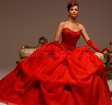 If I were to get married again it would definitely be in a red gown.