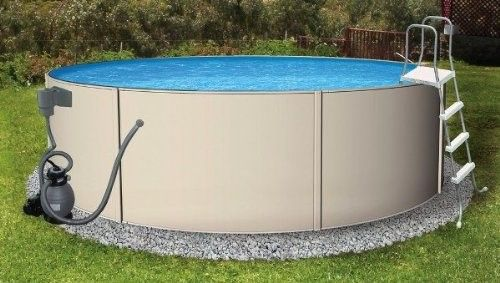 Blue Wave Round Blue Laggon Pool Package - 24 Ft X 52 Inch, As Shown