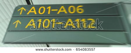blur picture of indication signals in international airport terminal used as background