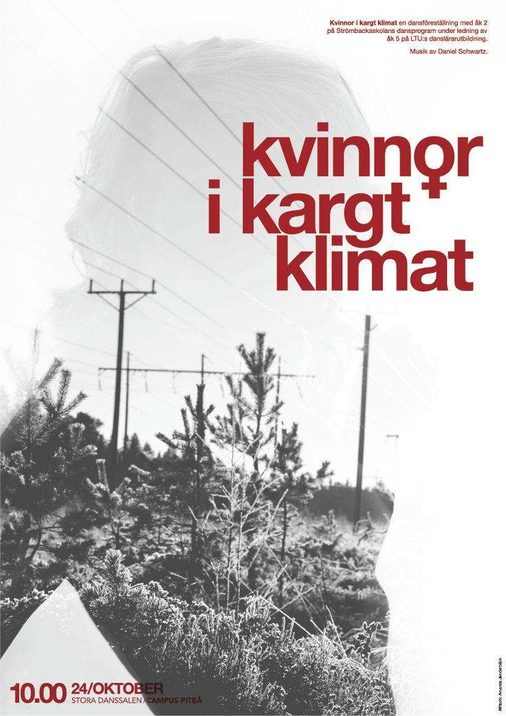 Kvinnor i kargt klimat. Poster by Amanda Jenderbäck.