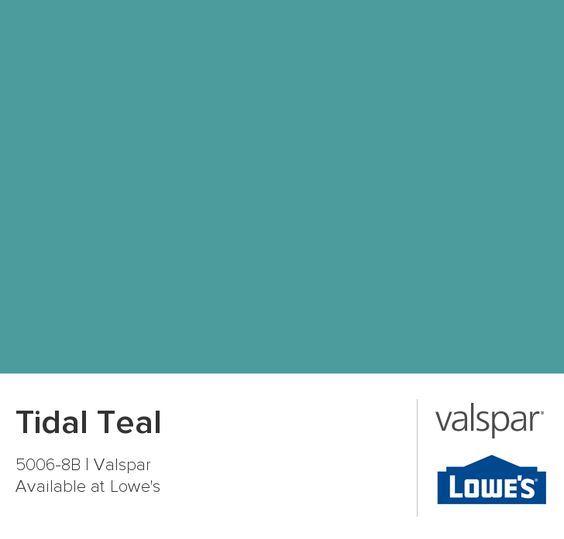 Tidal Teal from Valspar.....McKenzie funky spare bedroom remod wall color.