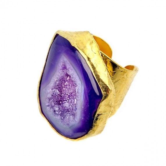 Agate Ring-Purple