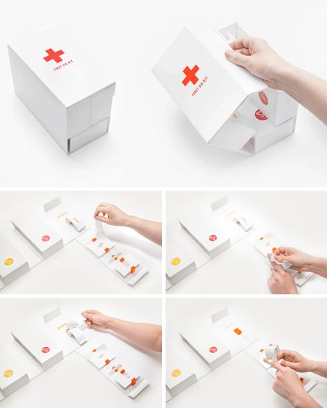 One-Handed, Color-Coded First Aid Kit for Fast