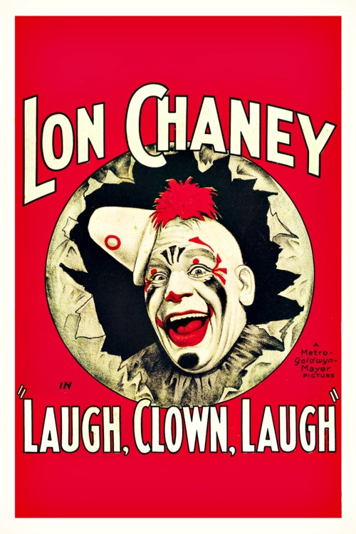 Laugh Clown Laugh poster starring Lon Chaney (1928)
