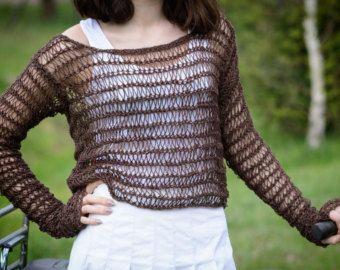 Off spalla cammello beige boho maglia maglione maglia di ileaiye