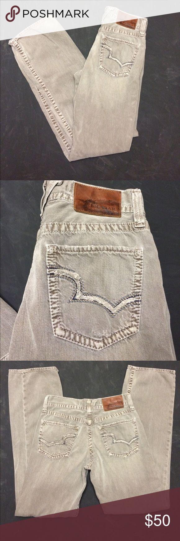 "Big Star - Rare ""Pioneer"" Gray Distressed Jeans Big Star - ""Pioneer"" bootcut jeans - Factory distressed - Size 30 - 32"" inseam - 9.5"" rise - EUC! Big Star Jeans Bootcut"