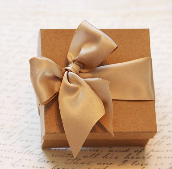 Champagne Wedding Favor Box12 Gift Box Kraft Boxes Jewelry Box Personalized Gift Box