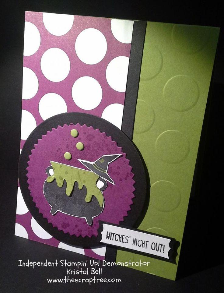 stampin up 2014 holiday catalog stampin up halloween card tee hee hee stamp set - Stampin Up Halloween Ideas