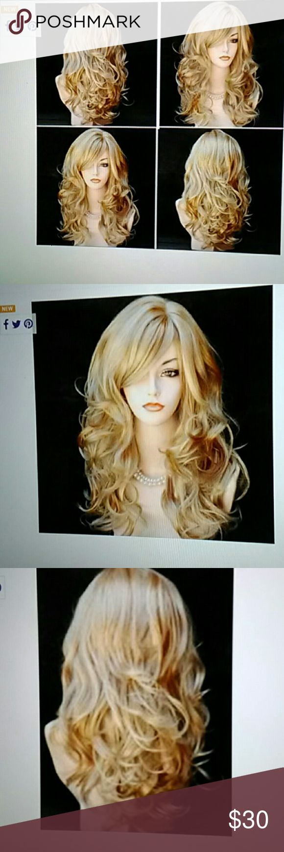 100% brand new long blonde wig 100% high quality high temperature Synthetic Fiber. Length- 25in. Accessories