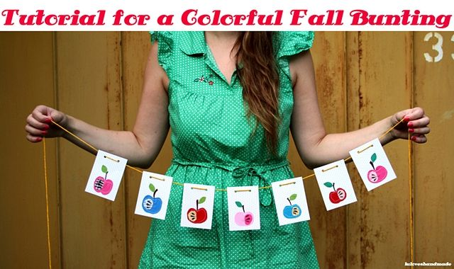 kathastrophal | DIY Tutorial for a Colorful Fall Bunting by luloveshandmade