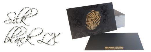 Business card Silk black LX