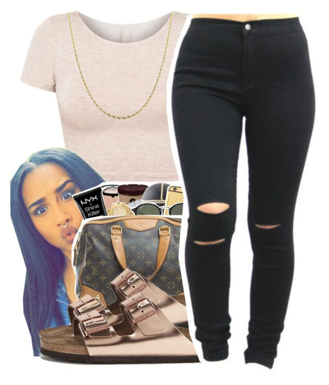 """For the World"" by queen-vanessa ❤ liked on Polyvore featuring American Apparel, Birkenstock and Fremada"