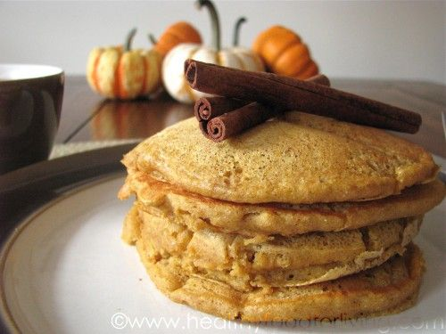 Pumpkin Spice Latte Pancakes for One