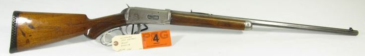 Lot 4 in the 9.21.13 online & live auction! Genuine Winchester Model 1894 Deluxe rifle in 30 WCF (30-30). Serial number traces this firearm to 1908. Features original octagon barrel, nickel silver receiver & checkered wood stock & forearm. Stock has been refinished and a rubber recoil pad installed. The metal finish is white with slight tint of bluing. Action is smooth and appears to be complete. A great find for anyone who collects old firearms or old Cowboy guns. #Ammo #POGAuctions