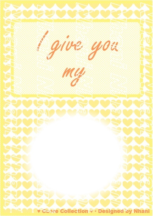 Special Free gift card for your *Cuore* · Designed by Nhani www.nhanicomplements.blogspot.com