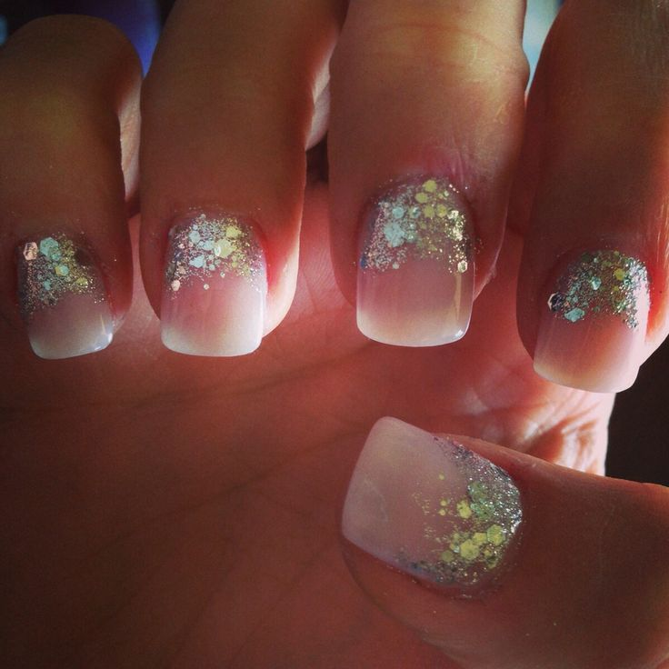 sparkly princess nails