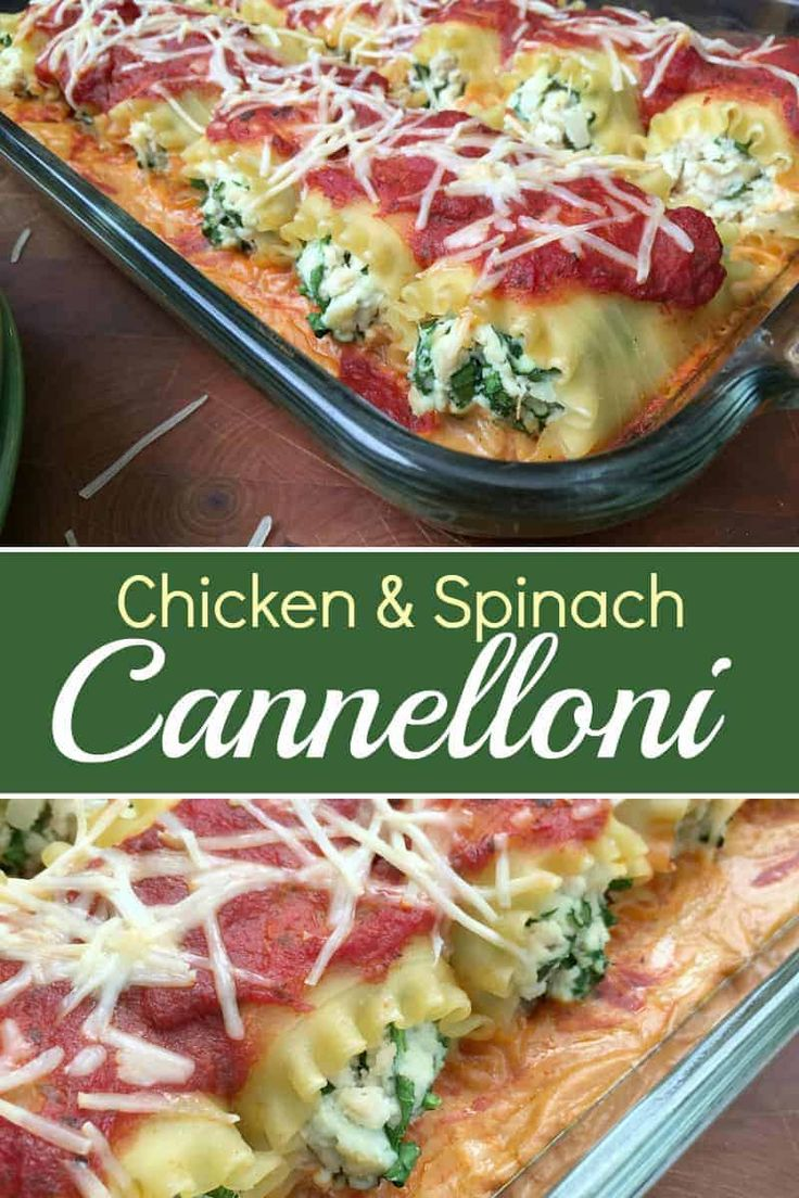 Jun 10, 2020 – Easy Chicken And Spinach Cannelloni Rolls are like a tasty lasagna rolled up in pasta love. Will you love…