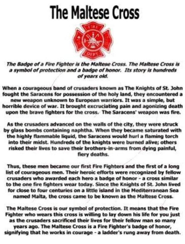 Fireman / Paramedic Maltese Cross
