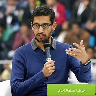 "Techno man: ""Sundar Pichai today criticised Trump"" 'Google has..."