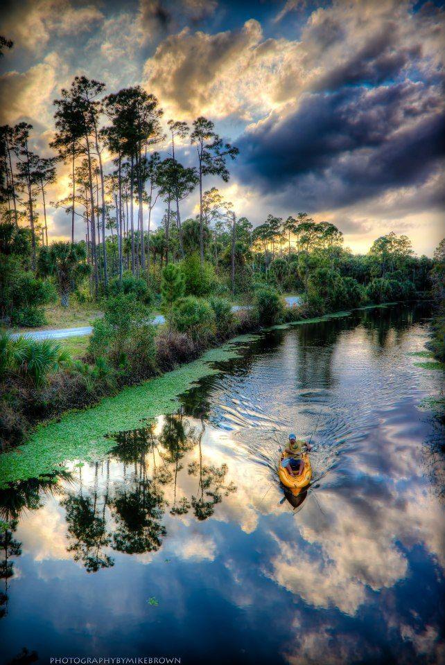 Kayaking the Loxahatchee River in Jupiter, Florida.