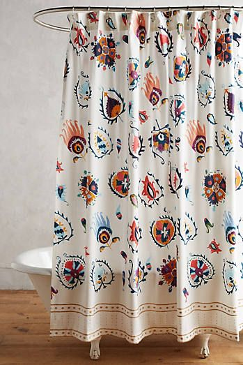 Bathroom curtains and accessories at anthropologie