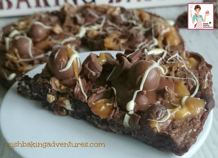 "A very delicious brownie made extra special with the addition of Rolo & Malteser and baked and cut into ""pizza"" slices. A huge hit with Kids & Adults"