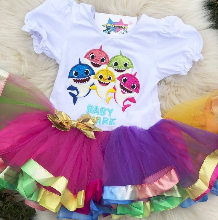 Baby Shark Tutu Dress Shop Direct Blotchier Glow In