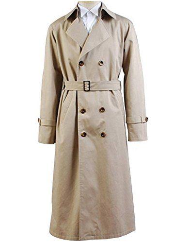 Supernatural Costume Angel Castiel Coat Beige Trench Jack...