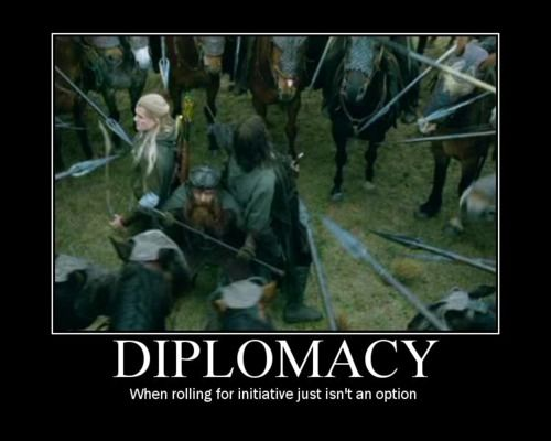 Diplomacy: when rolling for initiative isn't needed.