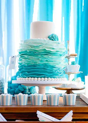 #summer_wedding_cake #aqua_wedding_cake See more http://www.love4weddings.gr/art-de-la-table-summer-wedding/