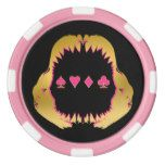 Gold and Pink Shark Poker Chips #Texas