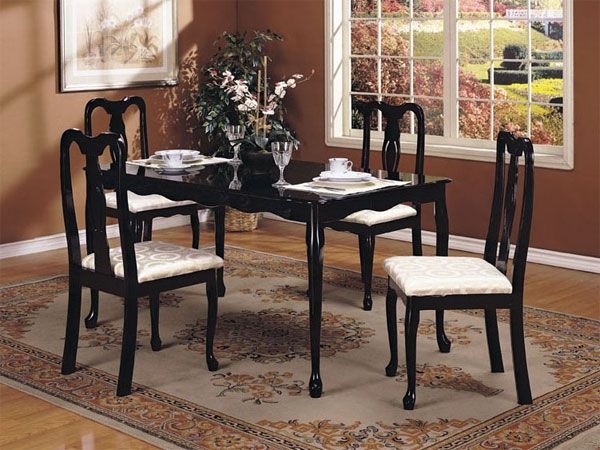 Queen Ann 5Pc Pack Dining Table 06006 Set By Acme