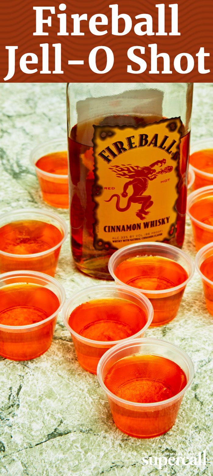 fireball and jello shots are both party starters so combining the two is a no - Best Halloween Jello Shots
