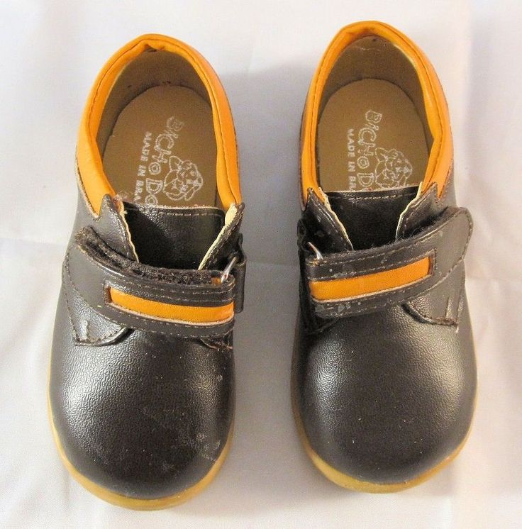 Toddlers Shoes 5.5 by Bicho Do Pe NIB Boy's Leather Brown and Orange…