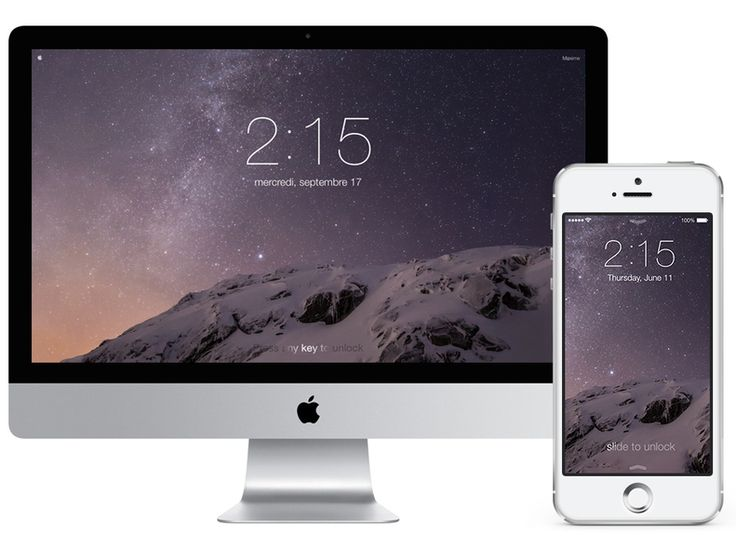 Stylish screensaver of the iOS lock screen experience on your Mac