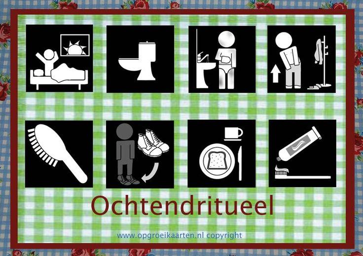 Dagritmekaart ochtendritueel - gratisbeloningskaart.nl
