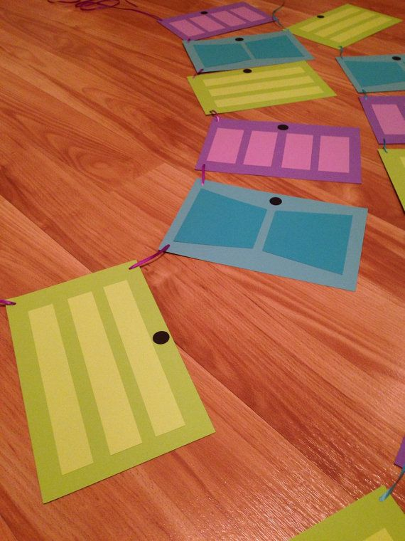Monsters Inc themed doors bunting - 2 strands