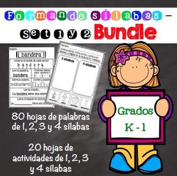 Esta unidad tiene 80 hojas de actividades de 1, 2, 3, y 4 slabas. Tambin tiene 20 hojas adicionales de actividades.El estudiante podr leer, colorear, y escribir en espaol.