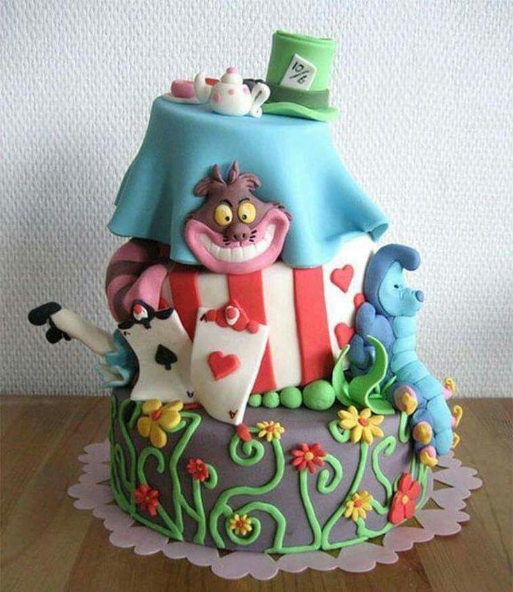 Alice in Wonderland Birthday Cake Ideas 134